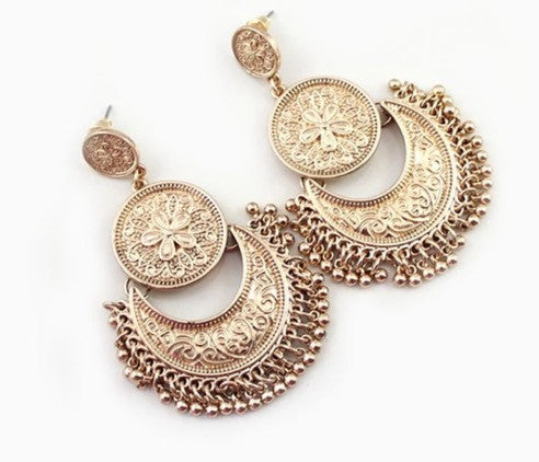 Gold Bohemian Tassle Earrings