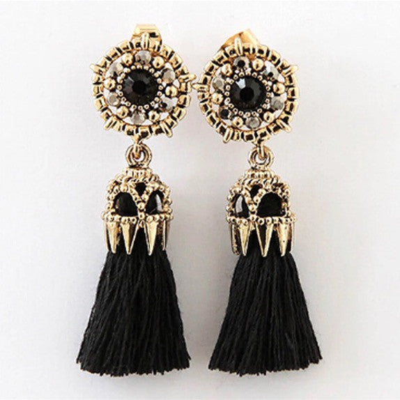 Bohemian Tassle Stud Earrings