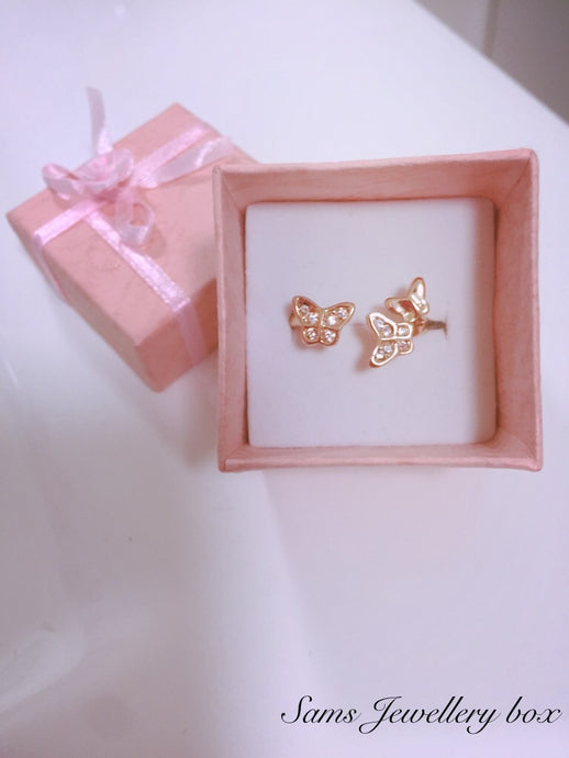 Gold plated butterfly ring