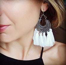 Bohemian tassle earrings