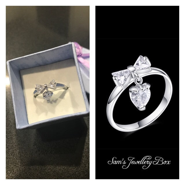 Silver Bow Ring