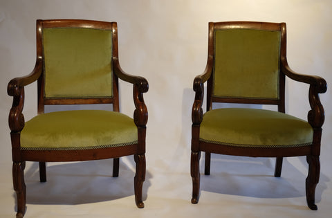 French Walnut Armchairs