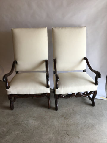 Pair Os De Mouton Chairs