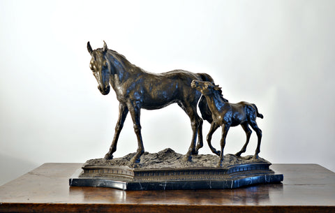 Bronze Of Mare And Foal
