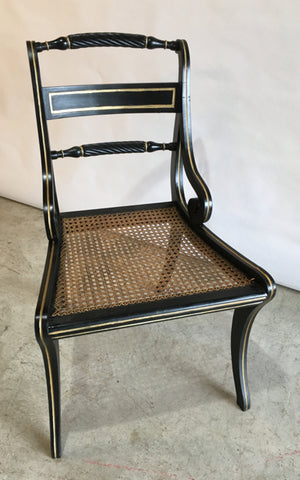 Set Six Regency Chairs