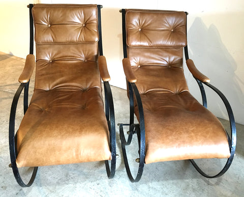 Pair R W Winfield  Rocking Chairs