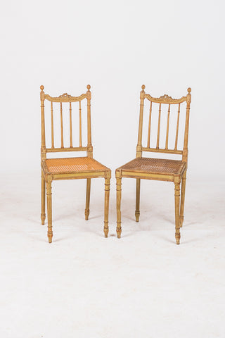 Pair French Bedroom Chairs
