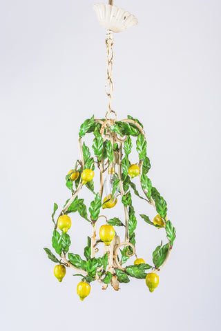 Lemon Cage Tole Light
