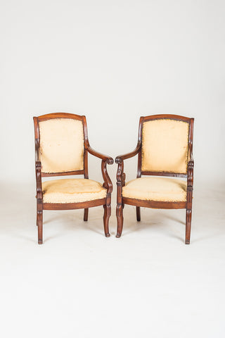 Pair of French  Empire Chairs