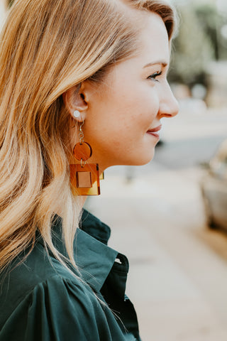 geo modern dangle earrings