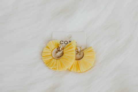 yellow tassle earrings