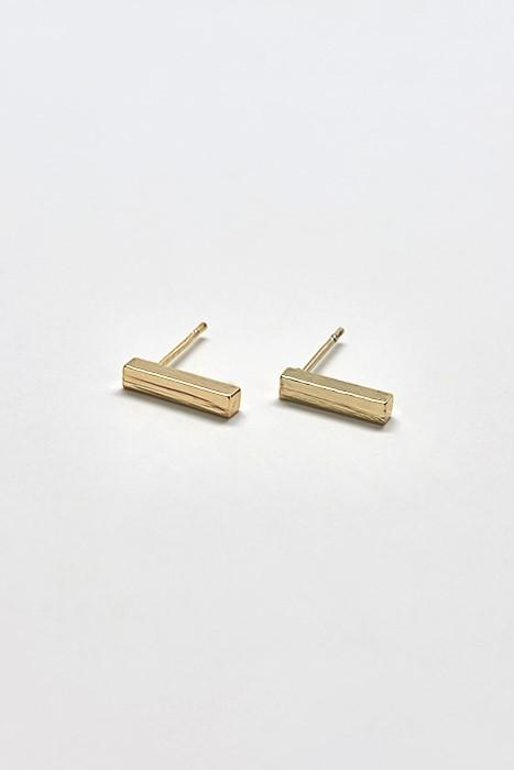 Gold Drop Bar Earring