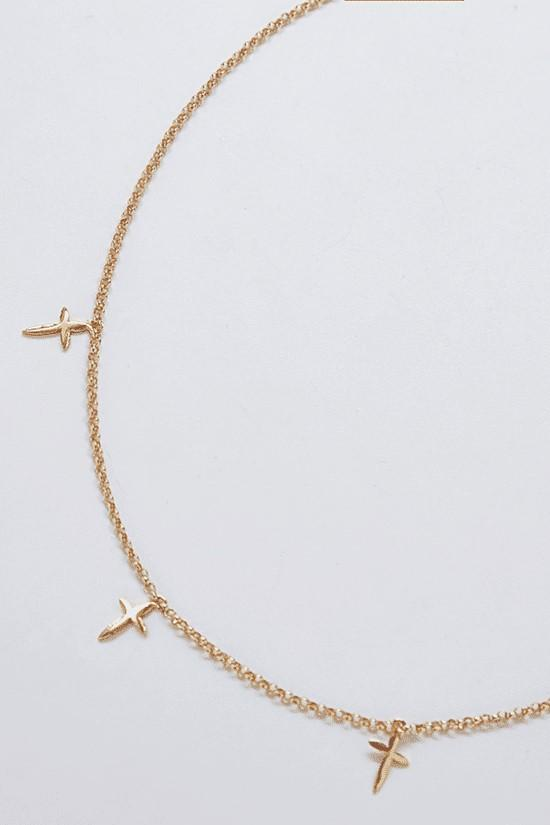 Golden Cross Choker Necklace