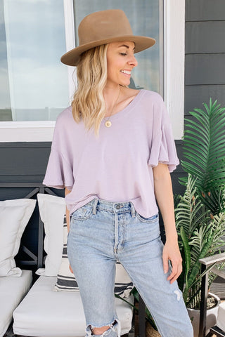Brick Linen Blouse
