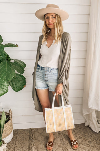 Mock-Neck Slim Rib Sweater