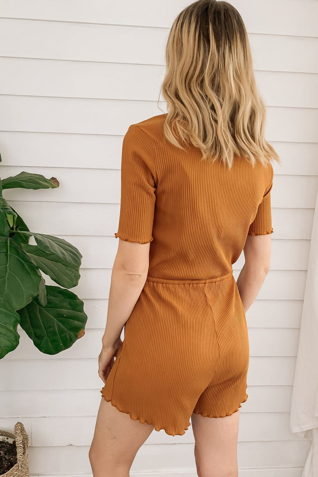 Slow Burn Ribbed Romper