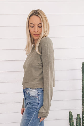 Soft Rib Knit Cozy Top