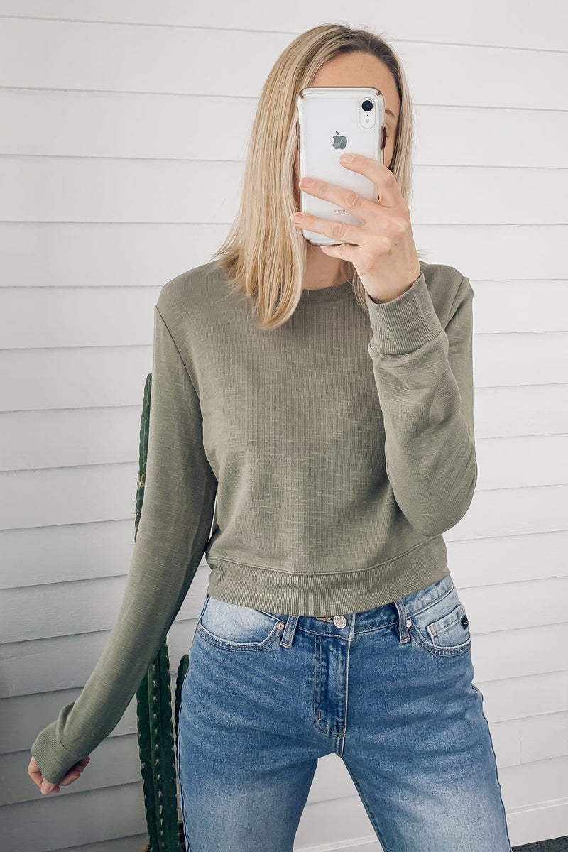 Marci Cropped LS Tee