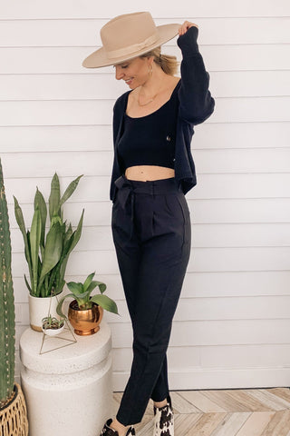 Kan Can Button Front Ultra High Rise Skinny