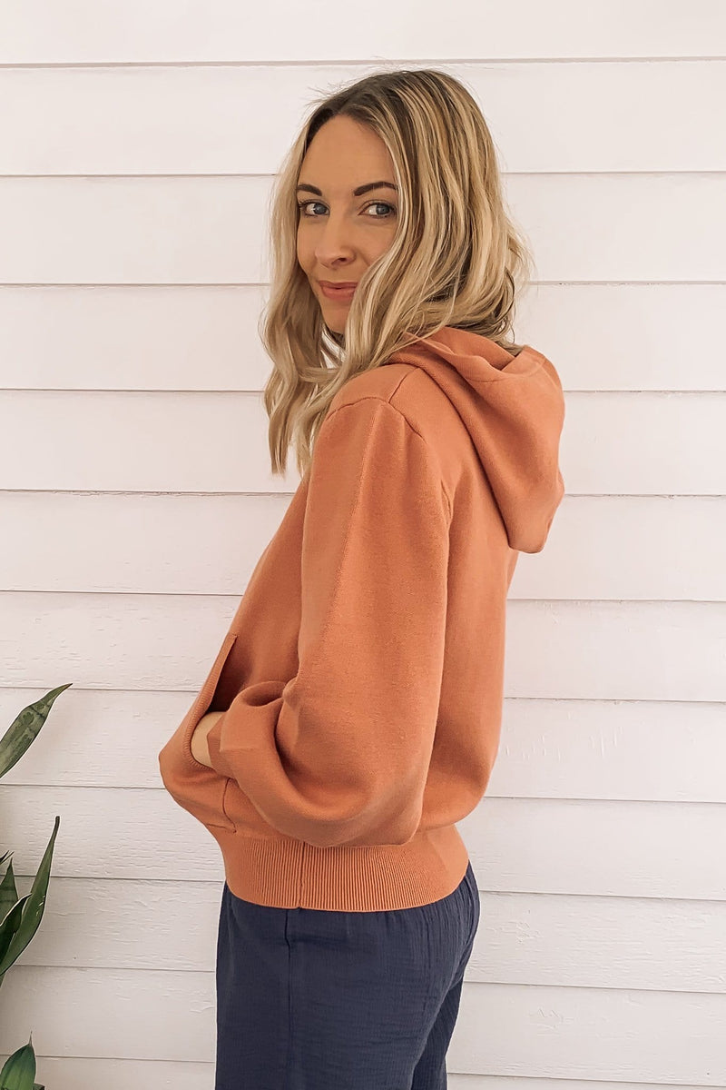 Robin Hooded Knit Sweater