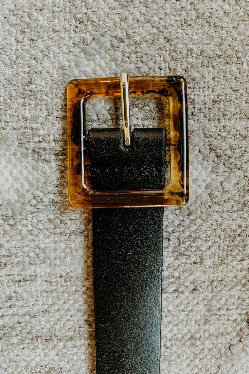 Single Buckle Genuine Leather Belt