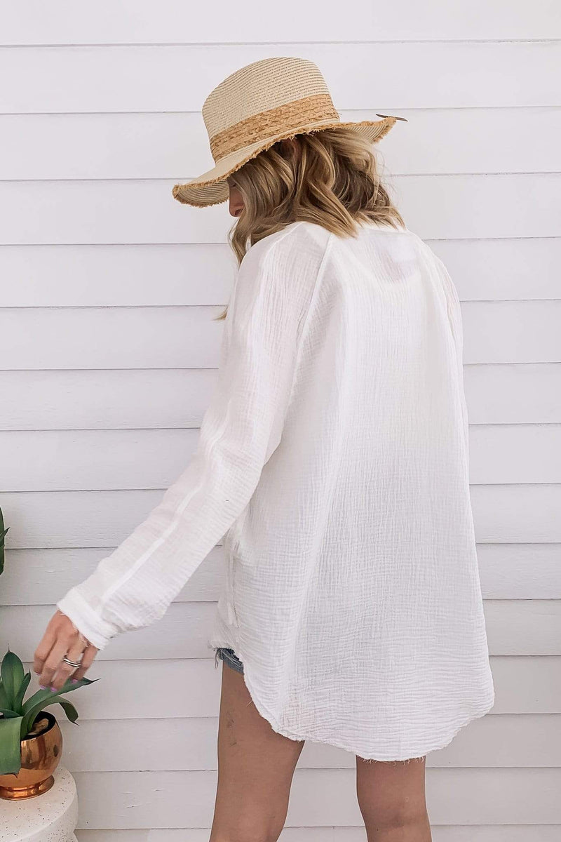 Masie Cotton Oversized Shirt