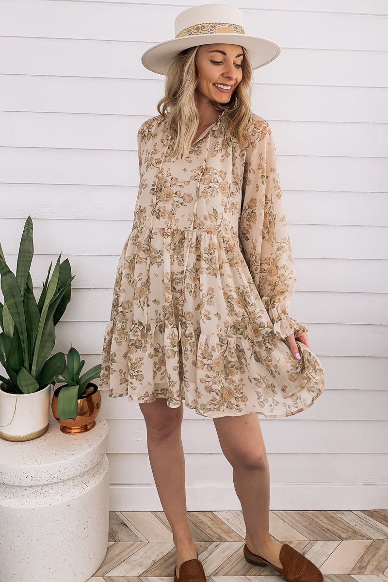 Vic Floral Babydoll Dress