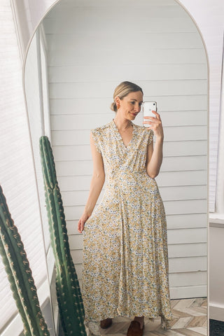 Hallie Peasant Midi Dress