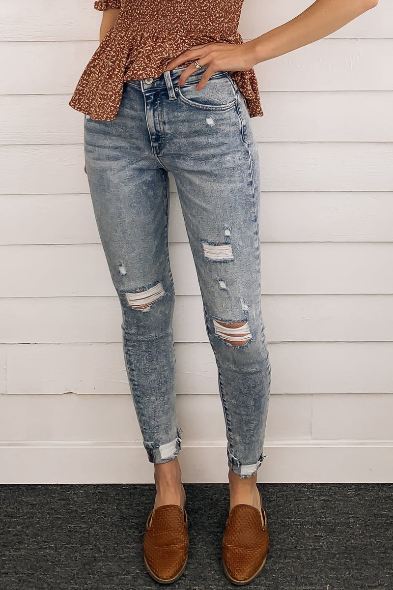 Kan Can Petra High-Rise Cuffed Jeans