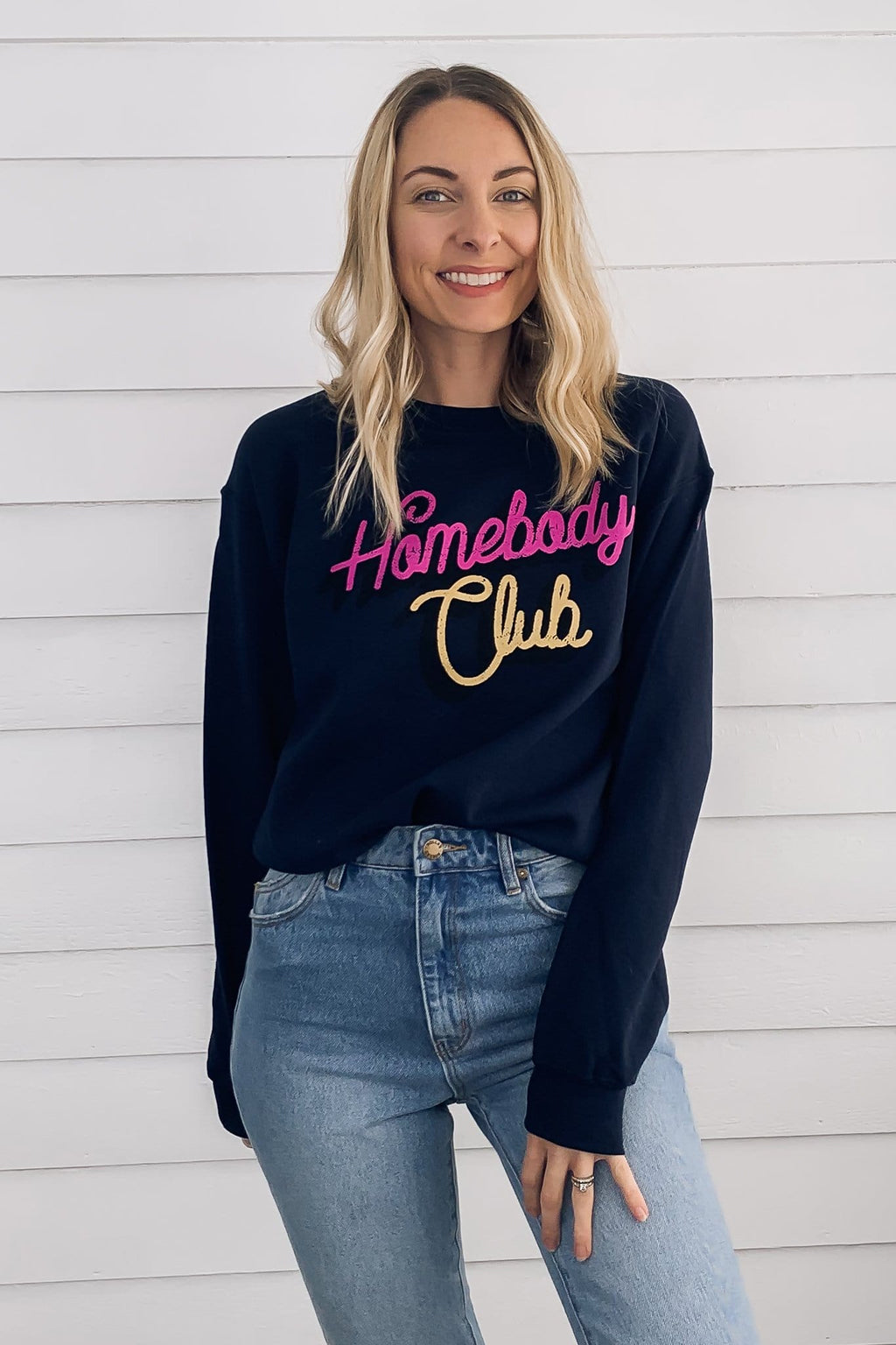 Homebody Club Sweatshirt - Navy