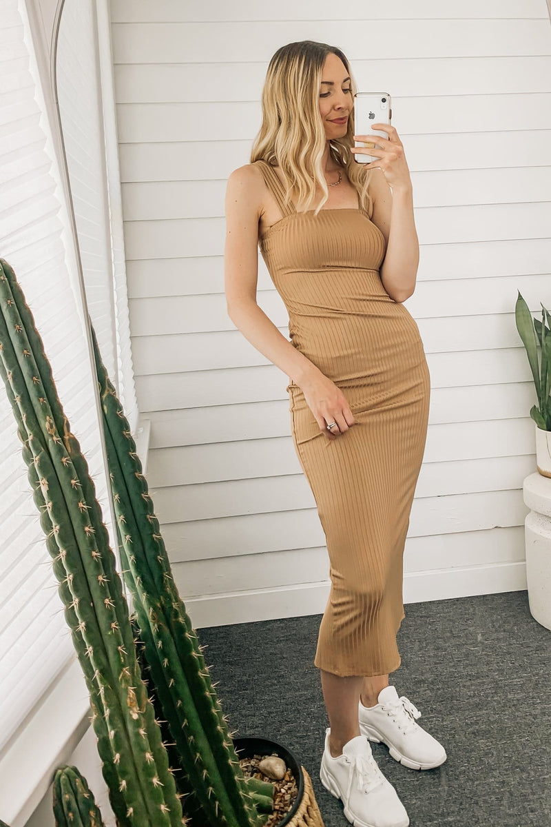 Missy Ribbed Knit Midi Dress - 2 Colors
