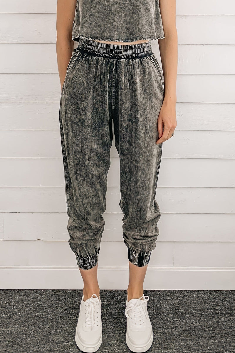 Demi Washed Charcoal Trouser