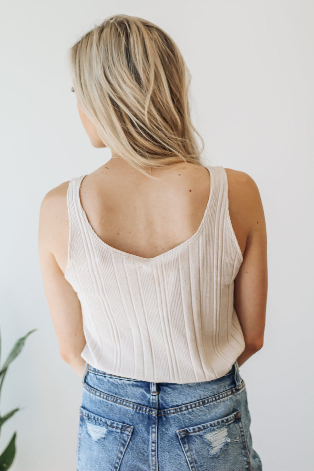Ribbed Knit Sleeveless Top