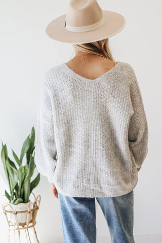 Brown Basic Pullover Sweater