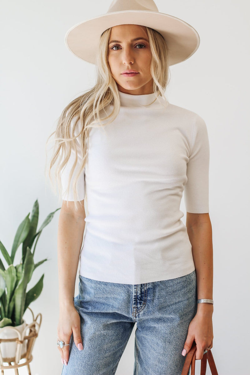 Patrons of Peace Cream Spotted Blouse