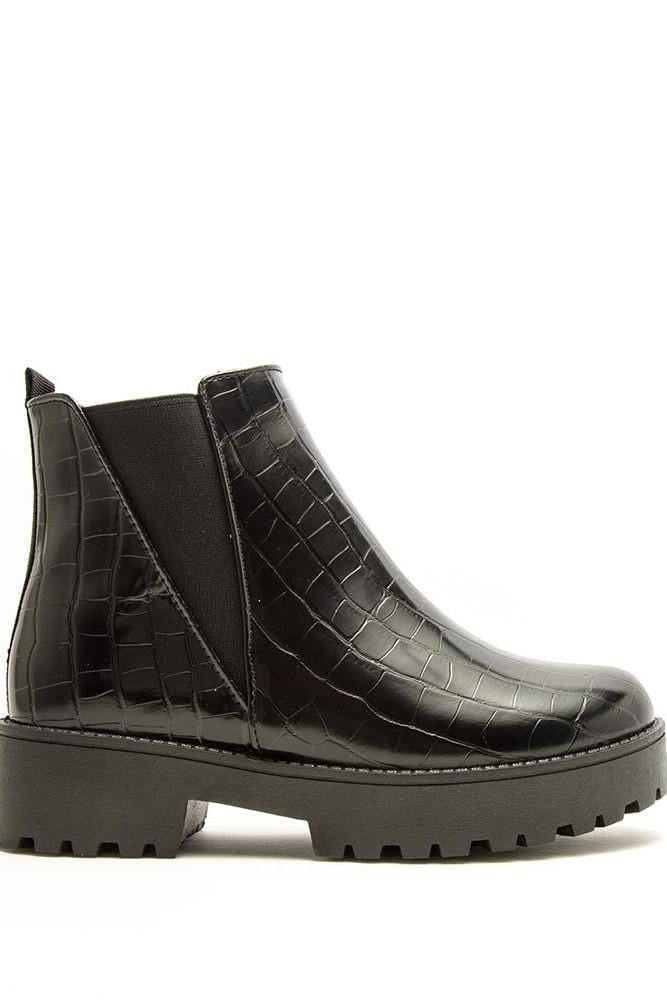The It Boot - Black Croc
