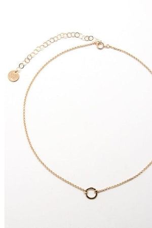 Hammered Circle Choker Necklace