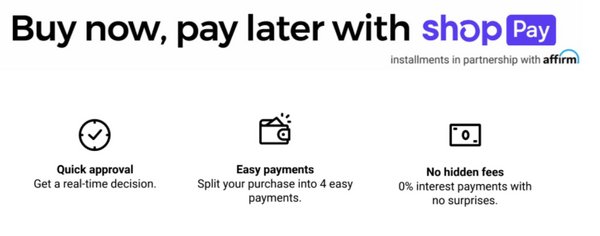Buy now, pay later with shop pay