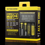 Nitecore D4 4-bay Digital Lithium Ion Battery Charger - Clearance