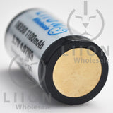 Protected 1100mAh 10A 18350 Button Top Battery - Negative
