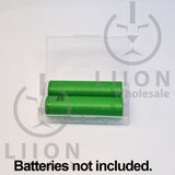 18650 liionwholesale branded case - open with batteries