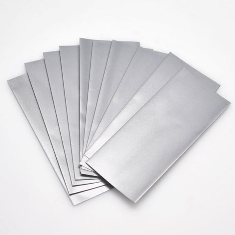 18650 PVC Heat Shrink Wraps - 10 pack - Silver