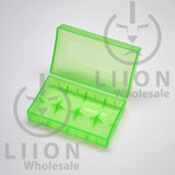 20700 battery case - green open