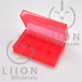 20700 battery case - red open