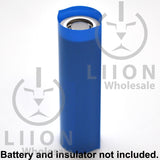 21700 PVC Heat Shrink Wraps - Blue on battery