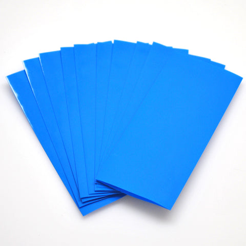 21700 PVC Heat Shrink Wraps - 10 pack - Bright Blue