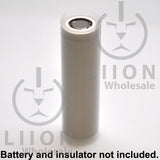 21700 PVC Heat Shrink Wraps - Clear on battery