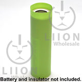 21700 PVC Heat Shrink Wraps - Green on battery