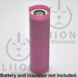 21700 PVC Heat Shrink Wraps -Pink on battery
