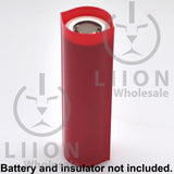 21700 PVC Heat Shrink Wraps - Red on battery
